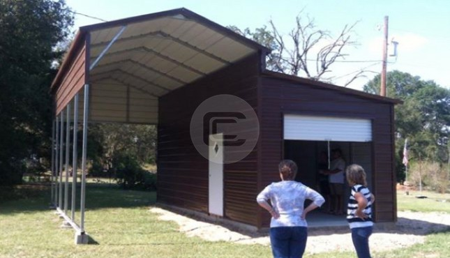 12x26x12 A Frame Rv Cover Prefab Boxed Eave Carport