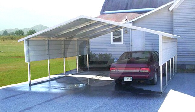 18x21x6 A Frame Metal Carport Boxed Eave Carport With