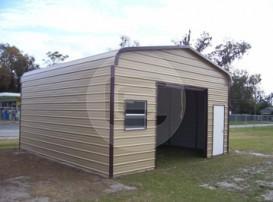 18x21x9 Enclosed Garage
