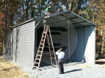 22x41 Vertical RV Carport