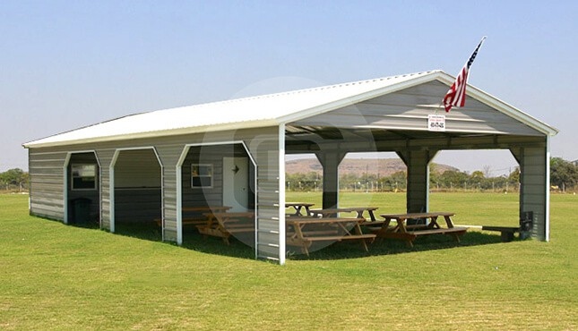 8x14 Metal Carport : Utility carports benefits of metal carport with storage shed
