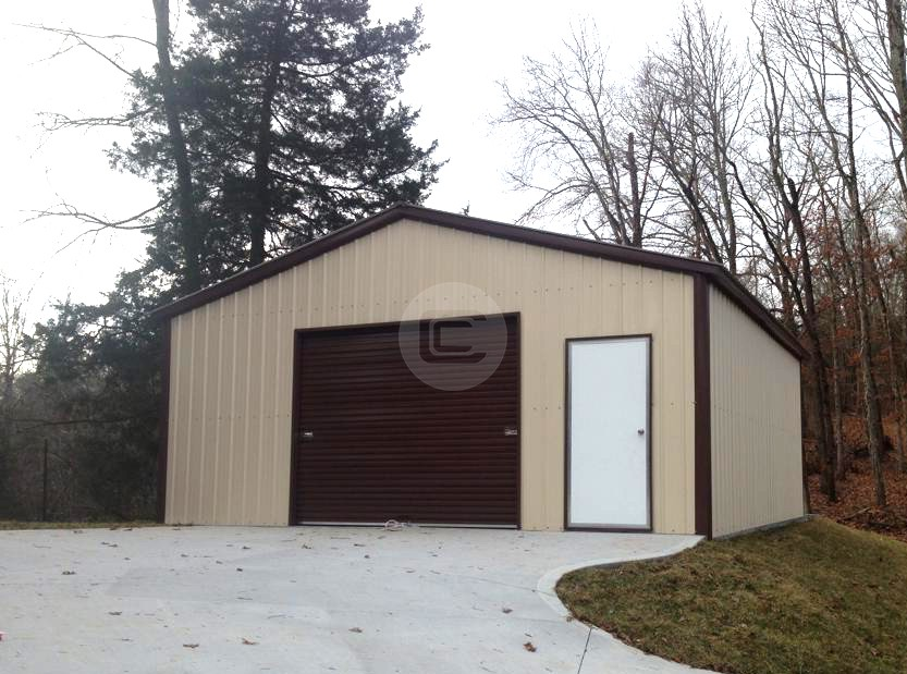 The great debate custom metal garages vs traditional for Traditional garage