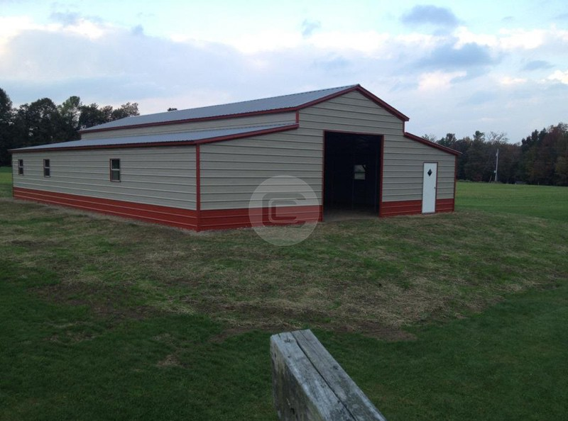 Metal horse barns metal horse shed for sale horse barn for Garage kits maine