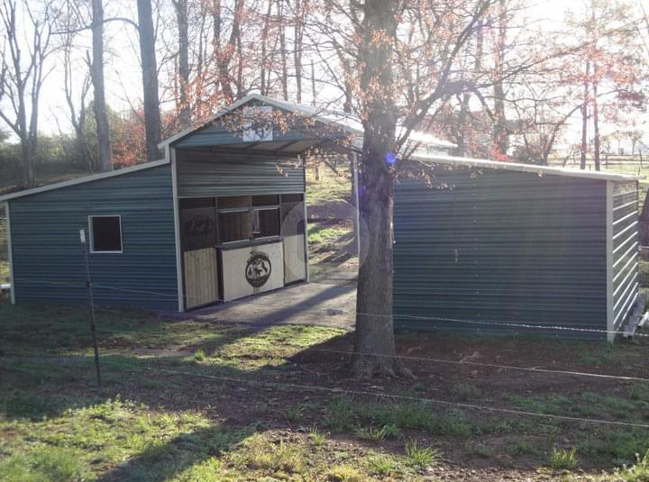 Boxed Eave Metal Barn