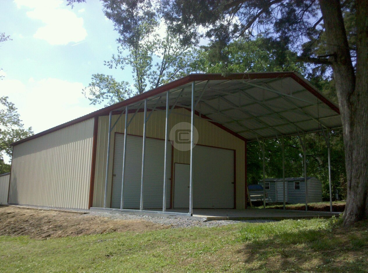 Custom Carports Product : Workshop garage custom carport with options