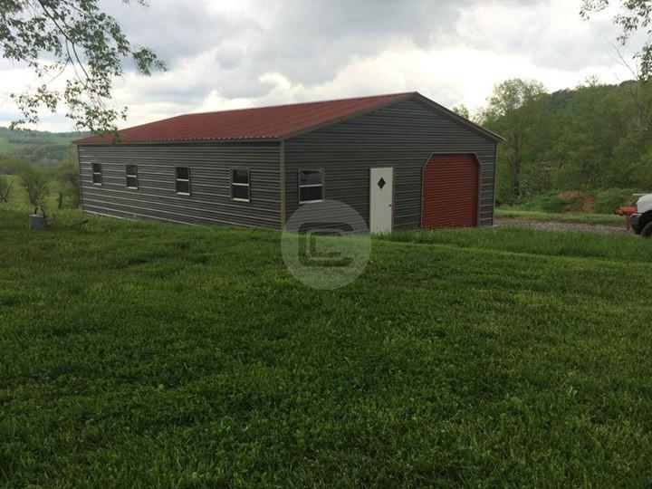 24x41x9 Vertical Roof Garage