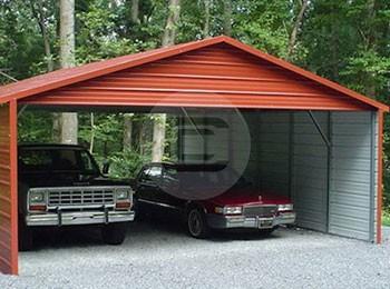A frame style carport