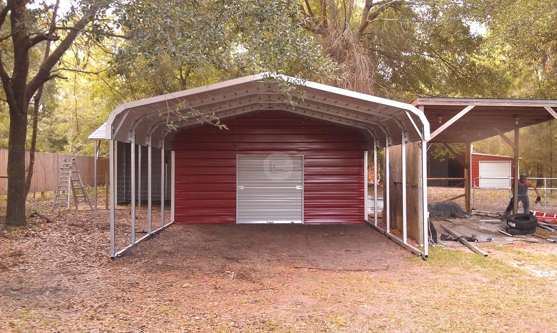 Metal Carport Barns : Creative uses and differences metal carports enclosed