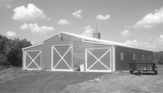 Fully Enclosed Barn