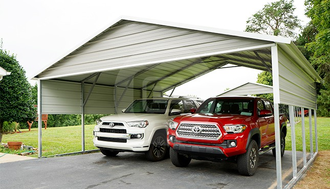 A Frame Roof Style Carports Boxed Eave Carports For Sale